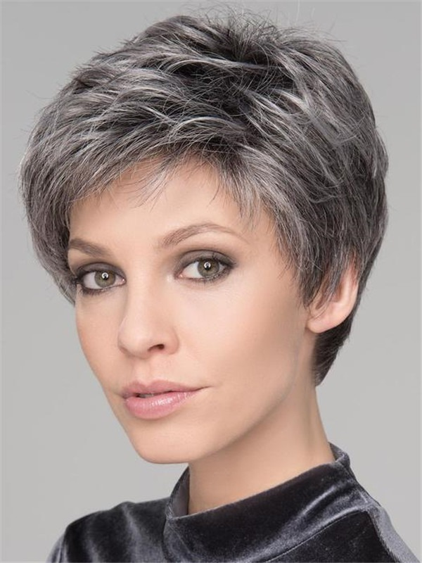 Short Synthetic Lace Front Wig Mono Crown For Women