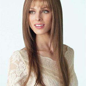 Long Straight Synthetic Wig Mono Top For Women