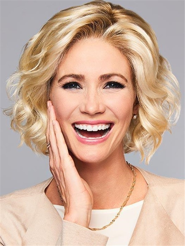 Short Synthetic Lace Front Wig Curly For Women