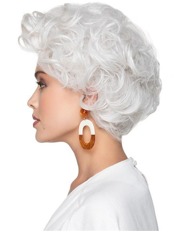 Short Hf Lace Front Synthetic Wig Mono Part For Women