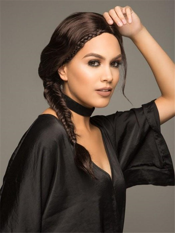The Philo Side Braid Synthetic Lace Front Wig