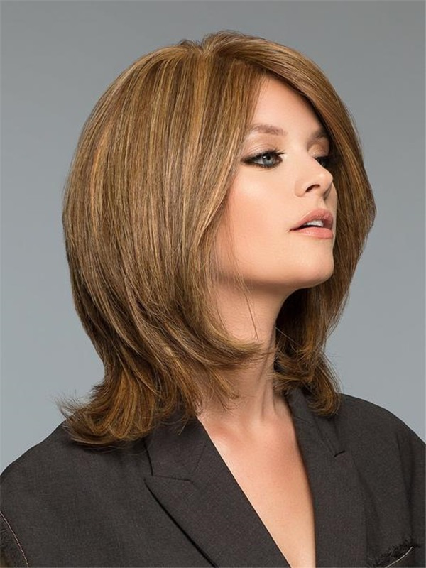 Short Straight Human Hair Wig Hand-tied For Women