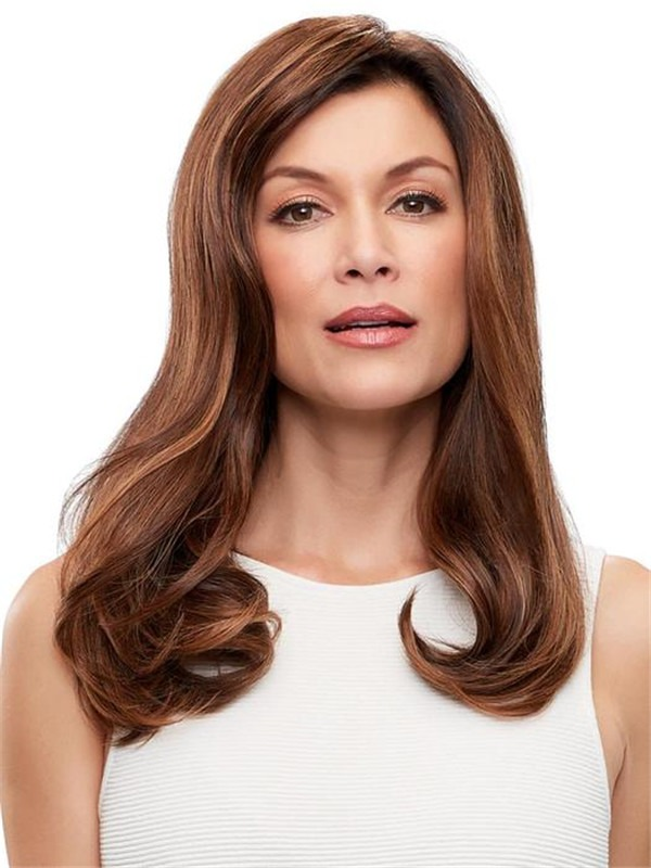 """Top Form French 18"""" Human Hair Topper Half"""