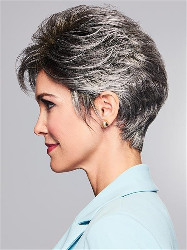 Short True Synthetic Wig Basic Cap Rooted For Women