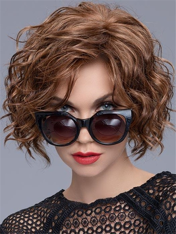 Curly Synthetic Lace Front Wig For Women
