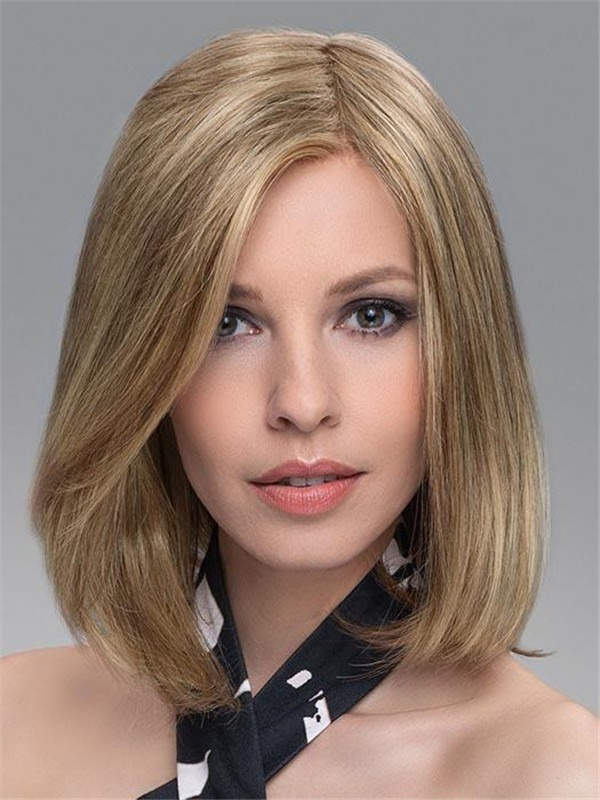 Top Piece Human Hair Synthetic Blend Half
