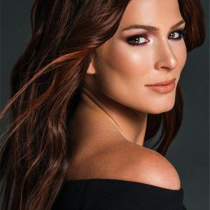 Long Human Hair Synthetic Blend Wig Mono Top For Women