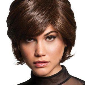 Short Hf Synthetic Wig Basic Cap For Women