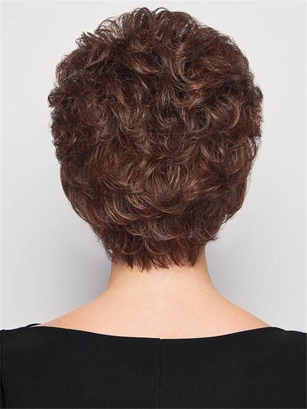 Short Layered Synthetic Wig Basic Cap For Women