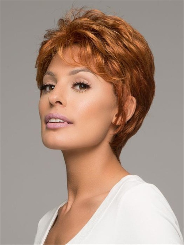 Short Pixie Straight Synthetic Wig Basic Cap For Women