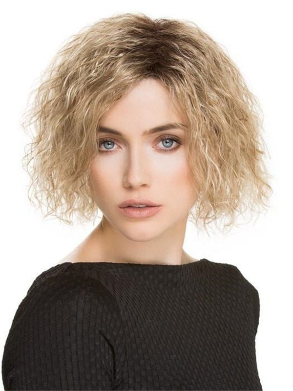 Curly Wiki Synthetic Wig Basic Cap