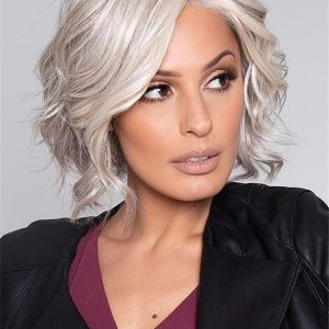 Layered Short Human Hair Lace Front Wig Mono Top For Women