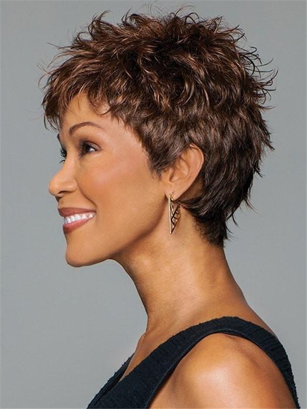Pixie Synthetic Wig Basic Cap For Women