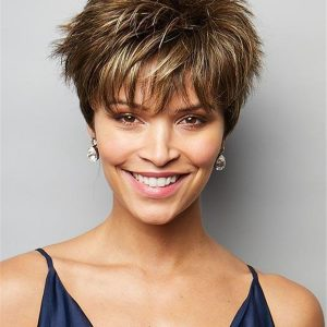 Short Brady Lace Front Synthetic Wig For Women