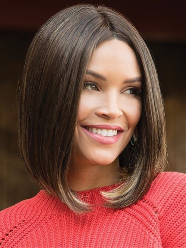 Mid-length Synthetic Lace Front Wig For Women