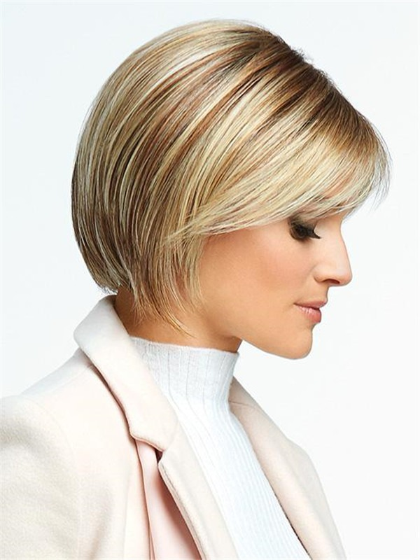 Short Classic Synthetic Lace Front Wig For Women