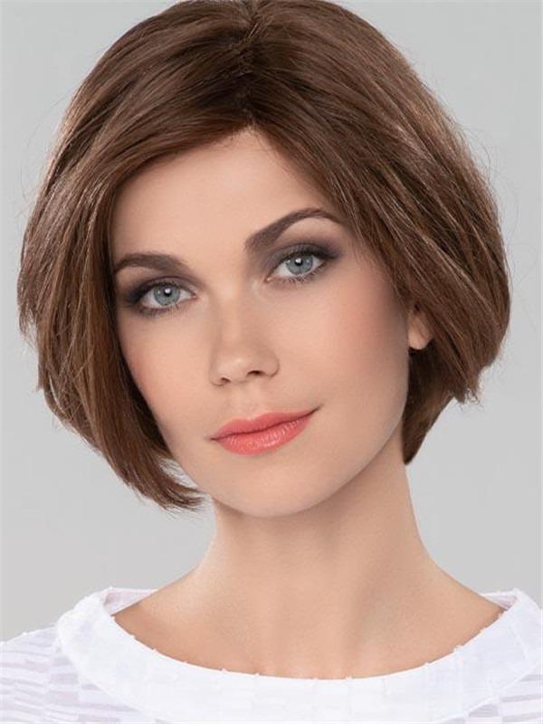 Short Straight European Remy Human Hair Wig For Women
