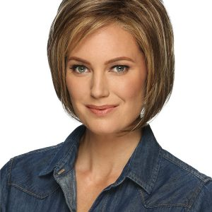 Short Layered Deena Synthetic Lace Front Wig Basic Cap For Women