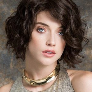 Short Delicate Human Hair Lace Front Wig For Women