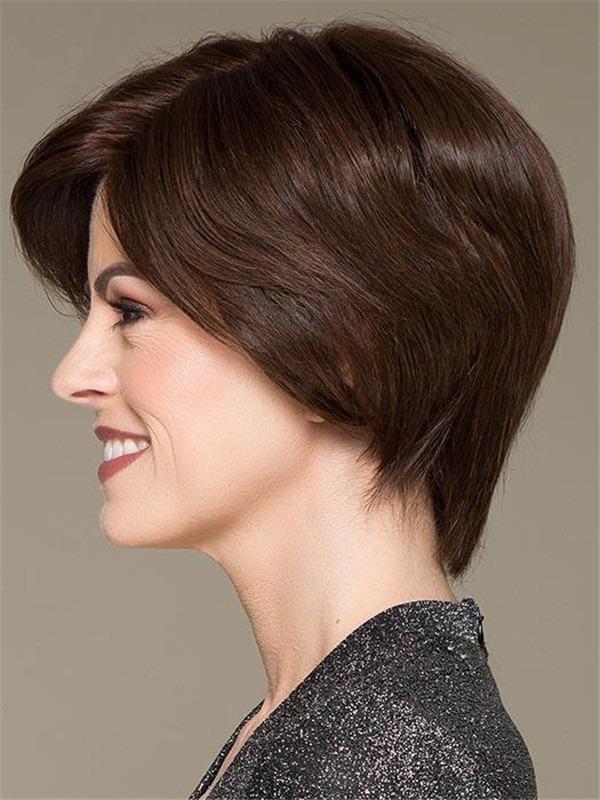 Short European Remy Human Hair Wig For Women
