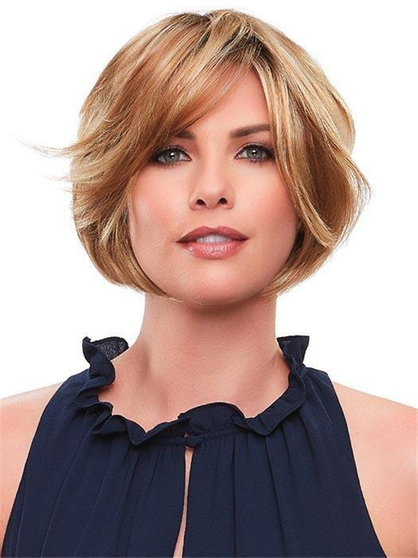 Short Elisha Synthetic Lace Front Wig Rooted For Women