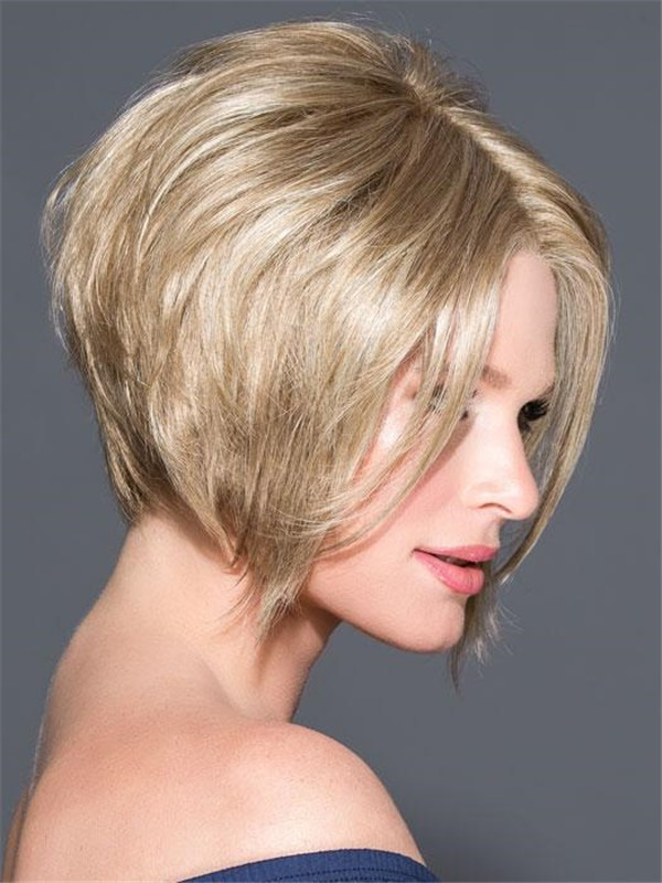 Short Rooted Elisha Synthetic Lace Front Wig For Women
