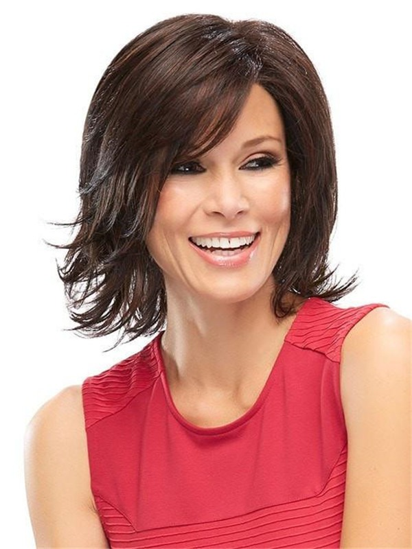 Rooted Elizabeth Synthetic Lace Front Wig For Women