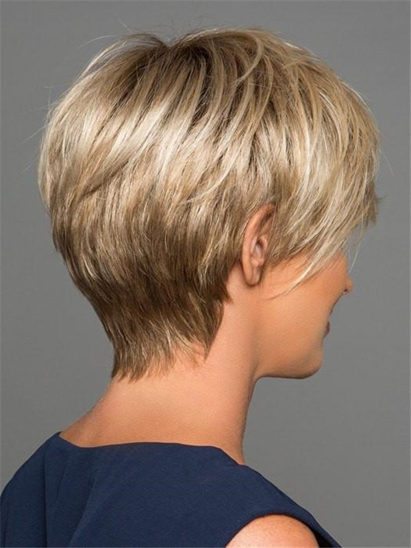 Short Evan Synthetic Lace Front Wig For Women