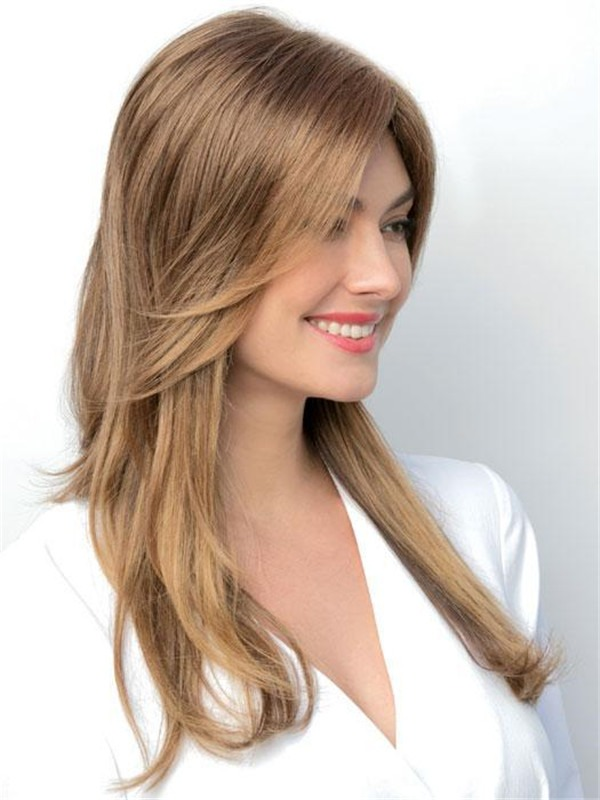 Synthetic Lace Front Top Piece Half Rooted