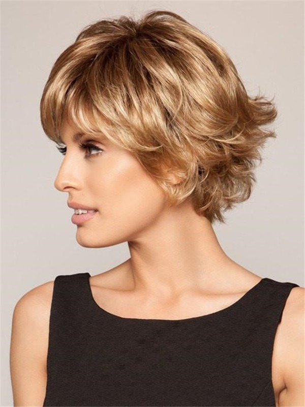 Short Free Spirit Synthetic Wig Lace Front For Women
