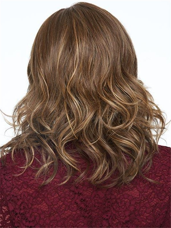 Mid-length Free Time Synthetic Lace Front Wig For Women