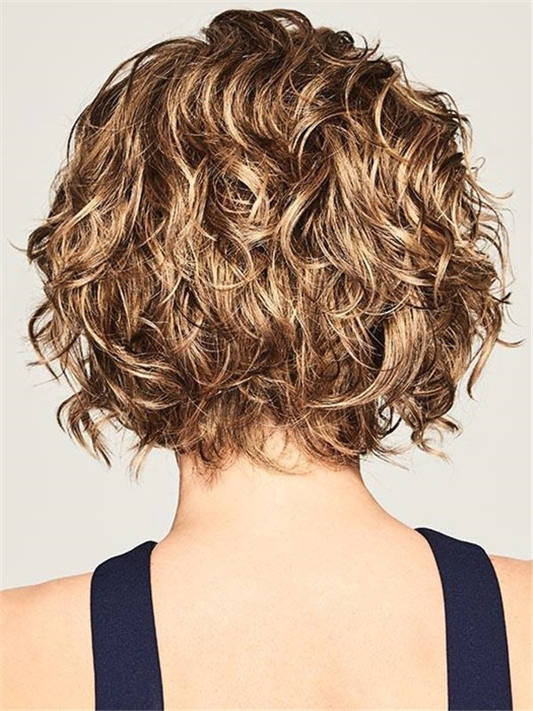 Short Fresh Chic Synthetic Lace Front Wig Rooted For Women