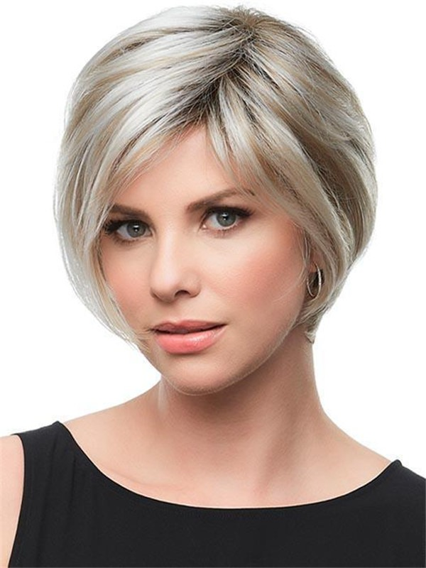 Short Gabrielle Synthetic Lace Front Wig Rooted