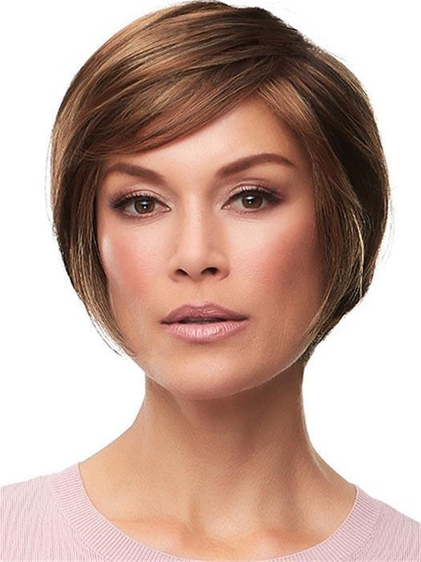 Short Gabrielle Synthetic Lace Front Wig Rooted For Women