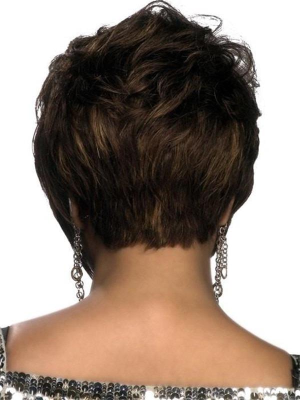 Short Straight Human Hair Wig Basic Cap For Women
