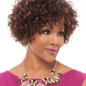 Short Curly Human Hair Wig Basic Cap For Women