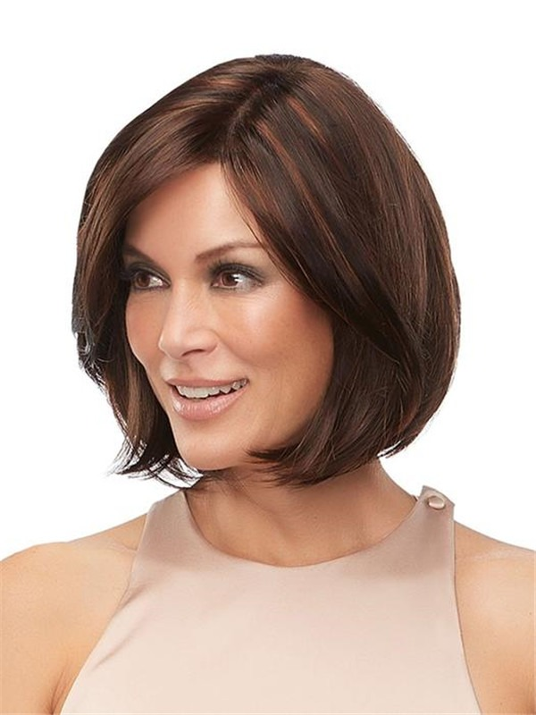 Short Kristi Synthetic Lace Front Wig Rooted For Women