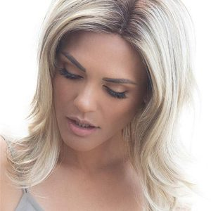 Long Straight Lucy Synthetic Wig Rooted For Women