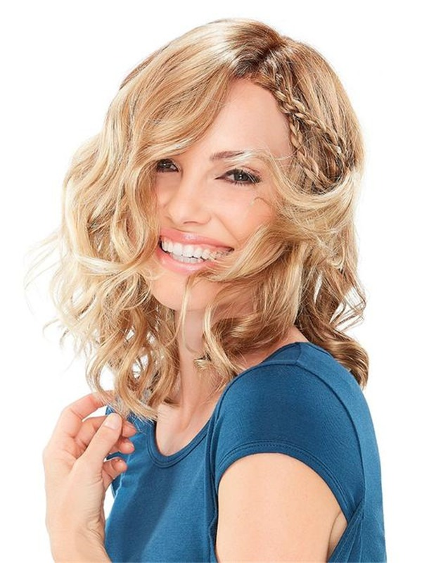 Wavy Milab Synthetic Lace Front Wig For Women