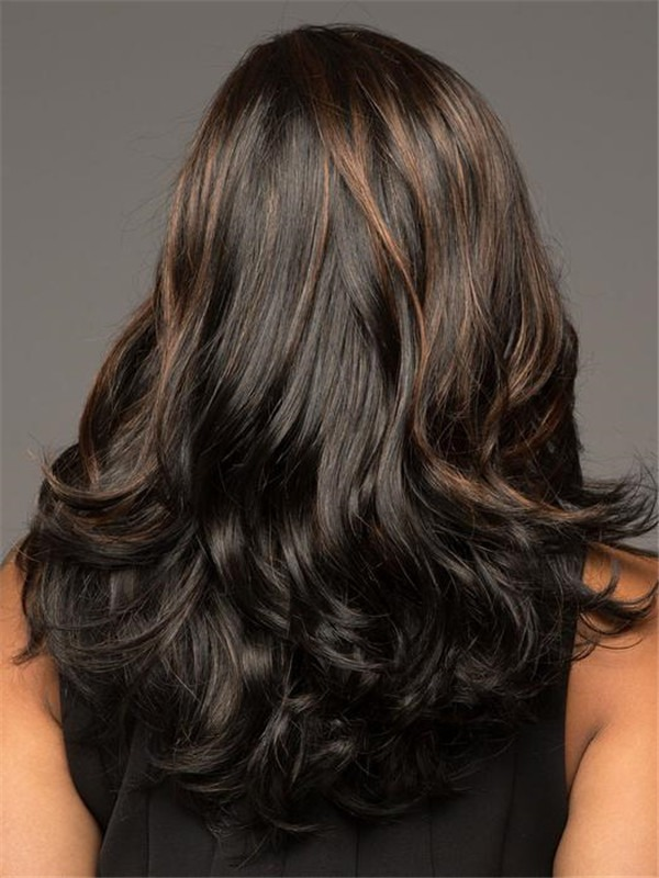 Long Miranda Synthetic Lace Front Wig Rooted For Women