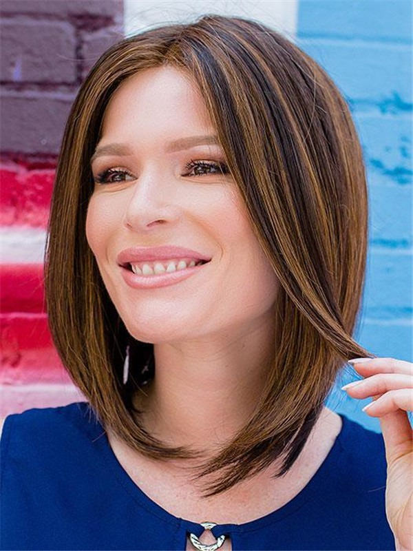 Rooted Point Synthetic Lace Front Wig For Women