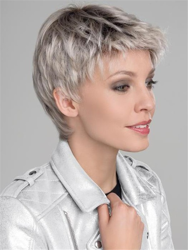 Short Risk Sensitive Synthetic Lace Front Wig For Women