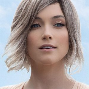Short Synthetic Lace Front Wig Rooted For Women