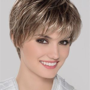 Short Smart Mono Synthetic Lace Front Wig Layered