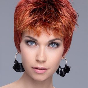 Short Straight Synthetic Wig Mono Crown For Women