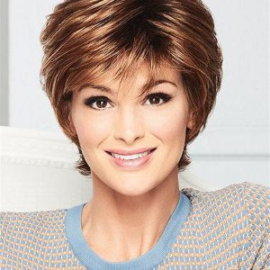 Short Soft Synthetic Wig Rooted For Women
