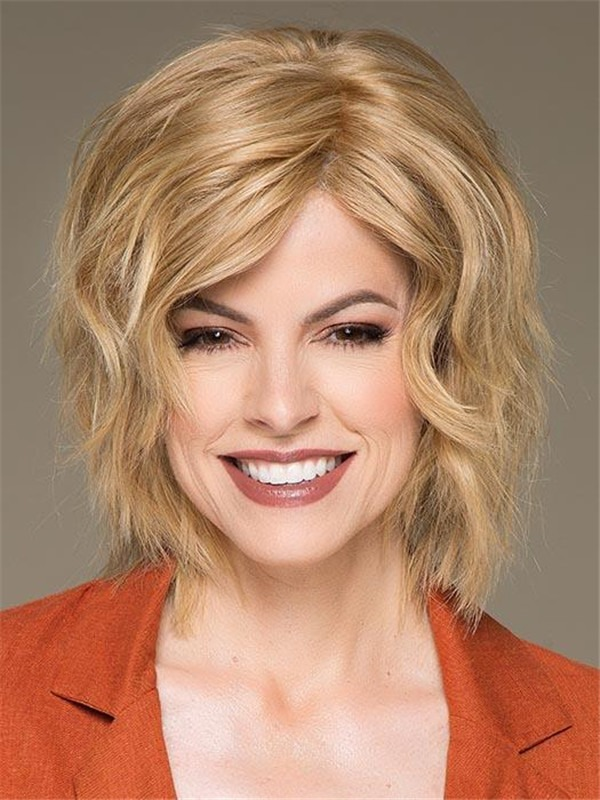 Mid-length European Remy Human Hair Wig For Women
