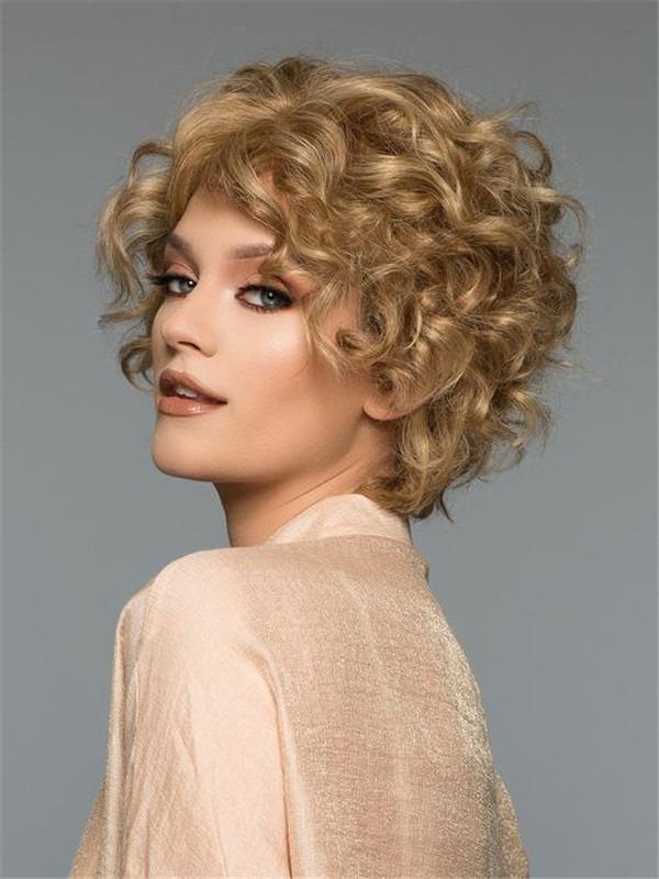 Short Straight Sunny Human Hair Wig For Women