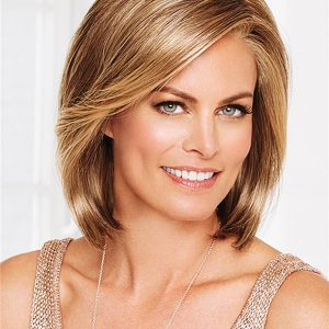 Mid-length Timeless Synthetic Lace Front Wig For Women