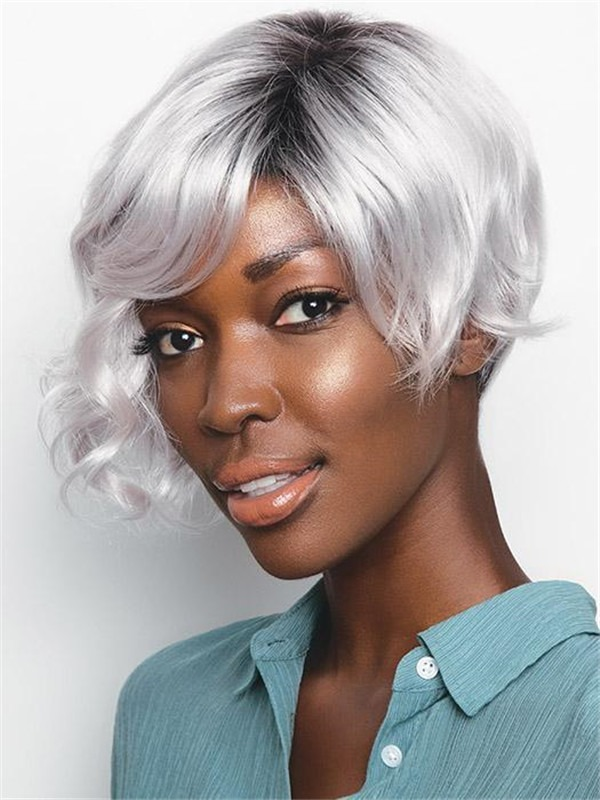 Synthetic Wig Mono Top Colored For Women